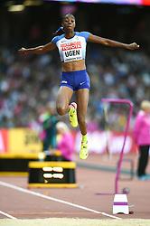Lorraine Ugen of Great Britain in action - Mandatory byline: Patrick Khachfe/JMP - 07966 386802 - 11/08/2017 - ATHLETICS - London Stadium - London, England - Women's Long Jump Final - IAAF World Championships
