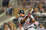 Miguel Cabrera (24) of the Detroit Tigers waits on-deck during a game against the Minnesota Twins on August 14, 2012 at Target Field in Minneapolis, Minnesota.  The Tigers defeated the Twins 8 to 4.  Photo: Ben Krause