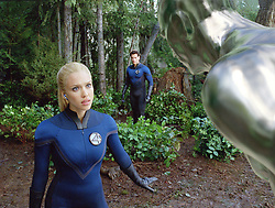 RELEASE DATE: June 15, 2007. STUDIO: 20th Century Fox. PLOT: The Fantastic Four learn that they aren't the only super-powered beings in the universe when they square off against the powerful Silver Surfer and the planet-eating Galactus. PICTURED: JESSICA ALBA as Sue Storm and IOAN GRUFFUDD as Reed Richards have a fateful encounter with LAURENCE FISHBURNE as the voice of the Silver Surfer. (Credit Image: © Entertainment Pictures/Entertainment Pictures/ZUMAPRESS.com)