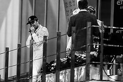 Rennen des Grand Prix von Abu Dhabi auf dem Yas Marina Circuit / 271116<br /> <br /> ***Abu Dhabi Formula One Grand Prix on November 27th, 2016 in Abu Dhabi, United Arab Emirates - Racing Day ***<br /> <br />  World Champion Nico Rosberg (GER) Mercedes AMG F1 celebrates on the podium.<br /> 27.11.2016. Formula 1 World Championship, Rd 21, Abu Dhabi Grand Prix, Yas Marina Circuit, Abu Dhabi, Race Day.