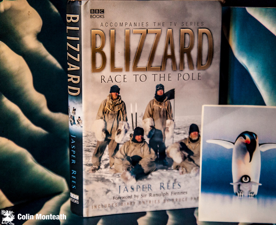BLIZZARD -  Race to the pole, Jasper Rees - BBC Books, London 2006 - 1st Edn., 288 page hardback with VG+ jacket, A book written to accompany the BBC series that re-created the Race to the South Pole - largely filmed in Greenland with characters in replica period clothing - surprisingly well done. $NZ25