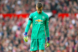 Manchester United goalkeeper David de Gea shows his dejection