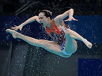 Aug 7, 2021; Tokyo, Japan; Olympics: Artistic Swimming-Womens Team Free Routine during the Tokyo 2020 Olympic Summer Games at Tokyo Aquatics Centre. Photo by Jack Gruber-USA TODAY Sports