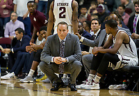 Texas A&M head coach Billy Kennedy watches his team down court against Florida during the first half of an NCAA college basketball game Tuesday, Jan. 2, 2018, in College Station, Texas. (AP Photo/Sam Craft)