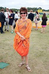 RUBY WAX at the Veuve Clicquot Gold Cup polo final held at Cowdray Park, Midhurst, West Sussex on 18th July 2010.
