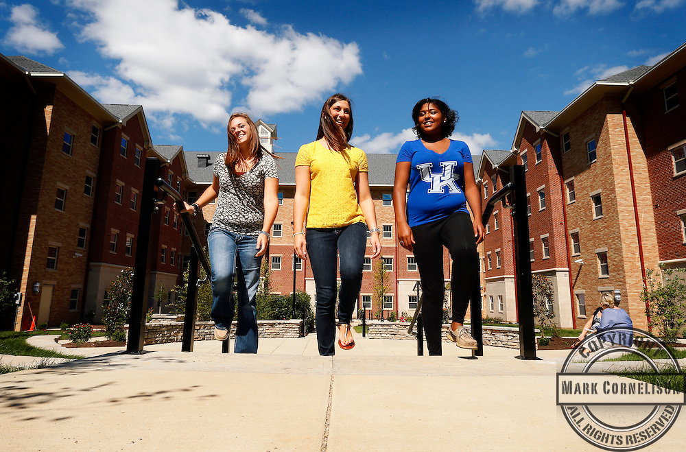 Students in and around New Central on the UK campus  on Wednesday August 14, 2013 in  Lexington, Ky.