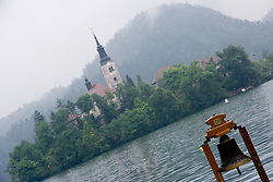 Bell of wishes in finish area during finals at Rowing World Cup  on May 30, 2010, at Bled's lake in Zaka, Bled, Slovenia. (Photo by Vid Ponikvar / Sportida)
