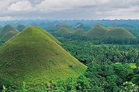 Chocolate Hills on Bohol Island, Philippines.  Nov 01.