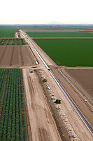 Aerial photograph of the Imperial Valley's faming industry and irrigation, California