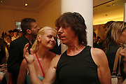 Guitarist- Jeff Beck and his wife Sandra Beck, PETA's Humanitarian Awards, Stella McCartney, Bruton Street, London, W1. 28 June 2006. ONE TIME USE ONLY - DO NOT ARCHIVE  © Copyright Photograph by Dafydd Jones 66 Stockwell Park Rd. London SW9 0DA Tel 020 7733 0108 www.dafjones.com