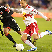 Joel Lindpere, Red Bulls, in action during the New York Red Bulls V D.C. United Major League Soccer, Eastern Conference Semi Final 2nd Leg match at Red Bull Arena, Harrison. New Jersey. USA. 8th November 2012. Photo Tim Clayton
