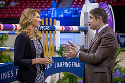Steffi Graf, GER,  Juan-Carlos Capelli, vice president Longines <br /> World Cup Final Jumping - Las Vegas 2015<br /> © Hippo Foto - Dirk Caremans<br /> 19/04/2015