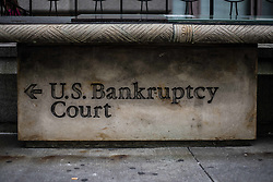 August 8, 2017 - New York City, New York, United States of America - United States Bankruptcy Court sign in lower Manhattan (Credit Image: © Sachelle Babbar via ZUMA Wire)