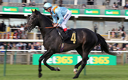 Dark Acclaim ridden by Andrea Atzeni in the bet365 Feilden Stakes during day one of The Bet365 Craven Meeting at Newmarket Racecourse, Newmarket. PRESS ASSOCIATION Photo. Picture date: Tuesday April 17, 2018. See PA story RACING Newmarket. Photo credit should read: Nigel French/PA Wire.