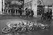 Mobike's, Liverpool St. station. London. 17 February 2020