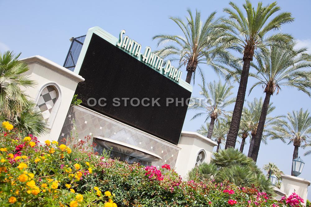 Santa Anita Thoroughbred Racetrack in Arcadia California