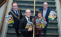 free pic no repro fee     GMC20012017 <br /> Lord Mayor Des Cahill, Simon Coveney TD  Minister for Housing, Planning and Local Government ,Cathy Buchanan GM Meitheal Mara and Martin Ryan Chairman Meitheal Mara Pictured at the Port of Cork, for the launch of Meitheal Mara's ambitious plans for the realisation  of an integrated maritime hub for Cork City. www.meithealmara.ie<br /> Images By Gerard McCarthy 087 8537228 <br /> For more info contact  Joya Kuin  0857770969  joyakuin@gmail.com