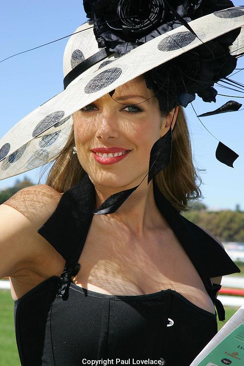 Derby Day at Royal Randwick Racecourse, Sydney. .Tara Moss