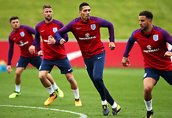England's Chris Smalling and team mates - Mandatory by-line: Matt McNulty/JMP - 29/08/2017 - FOOTBALL - St George's Park National Football Centre - Burton-upon-Trent, England - England Training and Press Conference
