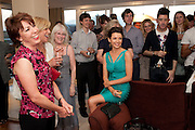 KATHY LETTE; DANNII MINOGUE Terry Ronald - book launch party for his book ' Becoming Nancy' . The Westbury Hotel, Pine Room, Bond Street, London, W1S 2YF<br /> -DO NOT ARCHIVE-© Copyright Photograph by Dafydd Jones. 248 Clapham Rd. London SW9 0PZ. Tel 0207 820 0771. www.dafjones.com.