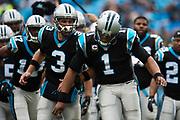 December 24, 2016: Carolina Panthers vs Atlanta Falcons. Cam Newton and Derek Anderson