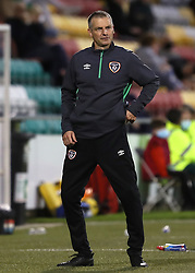 Republic of Ireland head coach James Crawford during the UEFA Under-21 Championship Qualifying Round Group F match at the Tallaght Stadium, Dublin. Picture date: Friday October 8, 2021.