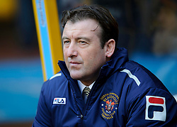 Blackpool caretaker Manager Steve Thompson (ENG) looks on from the dugout before the first half of the match - Photo mandatory by-line: Rogan Thomson/JMP - Tel: Mobile: 07966 386802 26/01/2013 - SPORT - FOOTBALL - Molineux Stadium - Wolverhampton. Wolverhampton Wonderers v Blackpool - npower Championship.