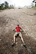 Jason posing on the Great Precipice.