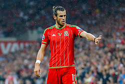 Gareth Bale of Wales (Real Madrid) - Photo mandatory by-line: Rogan Thomson/JMP - 07966 386802 - 12/06/2015 - SPORT - FOOTBALL - Cardiff, Wales - Cardiff City Stadium - Wales v Belgium - EURO 2016 Qualifier.