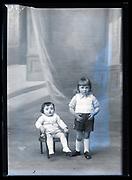 studio portrait of siblings  France ca 1920s