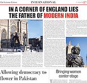 Photography on Lucknow Tribune article on Raja Ram Mohan Roy, written by Michaela Wilson