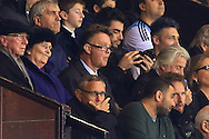 Louis Van Gaal, manager of Manchester United watches on from the stands - Argentina vs. Portugal - International Friendly - Old Trafford - Manchester - 18/11/2014 Pic Philip Oldham/Sportimage