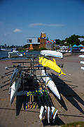 Poznan, POLAND, 20 June 2019, Thursday, General View, Boat Park, FISA World Rowing Cup II, Malta Lake Course, © Peter SPURRIER/Intersport Images,<br /> <br /> 12:37:32