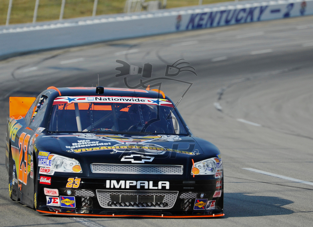 Sparta, KY - JUN 29, 2012: Jamie Dick (23) during the final practice for the Feed the Children 300 at the Kentucky Speedway in Sparta, KY.