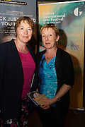 """Margaret Tuohy and Judy Murphy  at the World Premiere of the """"Luck Just Kissed you Hello""""by Amy Conroy in the Mick Lally theatre (Druid) on the opening night of Galway international Arts Festival. Photo:andrew Downes xposure"""