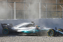 February 27, 2017 - Barcelona, Spain - Motorsports: FIA Formula One World Championship 2017, Test in Barcelona,.#44 Lewis Hamilton (GBR, Mercedes AMG Petronas) off the track into the gravel. (Credit Image: © Hoch Zwei via ZUMA Wire)