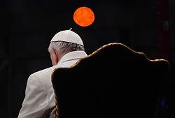Pope Francis leads the Via Crucis (Way of the Cross) torchlight procession celebrated in front of the Colosseum on Good Friday in Rome, Italy on April 14, 2017. Christians around the world are marking the Holy Week, commemorating the crucifixion of Jesus Christ, leading up to his resurrection on Easter. Photo by Eric Vandeville/ABACAPRESS.COM  | 589460_001 Rome Italie Italy