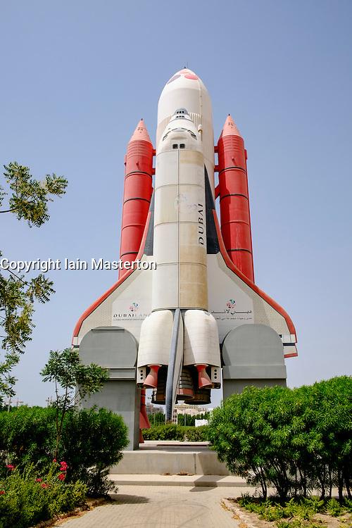 Space Shuttle at an abandoned amusement park at Dubailand in Dubai United Arab Emirates