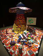 """The finished piece by Team 4: Kirkpatric Architecture Studio titled """"Cookies Across the Unviverse"""" at the Cookie Box Creations design contest presented by the Girl Scouts of Northeast Texas at the Perot Museum of Nature & Science on Sunday, February 17, 2013 in Dallas, Texas. (Cooper Neill/The Dallas Morning News)"""