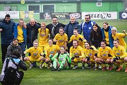 Ales Cipot, photographer, and team ZNK Pomurje during football match between ZNK Pomurje and ZNK Krim in 12th Round of Slovenska zenska nogometna liga 2020/21, on November 15, 2020 in TŠC Trate, Gornja Radgona, Slovenia. Photo by Blaž Weindorfer / Sportida