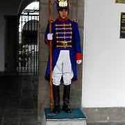 Soldier dressed as a spearman, like in the Simon Bolivar Times.