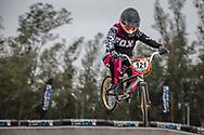 #121 (AGUILERA Rosario) CHI at the 2014 UCI BMX Supercross World Cup in Santiago Del Estero, Argentina.