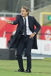 October 14, 2018 - Chorzow, Poland - Trener Roberto Mancini (ITA) reacts during the UEFA Nations league match between Poland v Italy at the Slaski Stadium on October 14, 2018 in Chorzow, Poland. (Credit Image: © Foto Olimpik/NurPhoto via ZUMA Press)