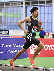 New Balance Indoor Grand Prix<br /> Staten Island, New York, February 13, 2021<br /> mens 1000m, adidas, Bryce Hoppel sets new American record of 2:16.27