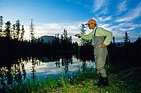 Fly fishing, West Glacier, Montana USA