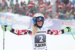 17.01.2016, Hermann Maier Weltcupstrecke, Flachau, AUT, FIS Weltcup Ski Alpin, Flachau, Damen, Riesenslalom, 2. Lauf, im Bild Eva-Maria Brem (AUT) // Eva-Maria Brem of Austria reacts after her 2nd run of Ladie's Giant Slalom for the FIS Ski Alpine World Cup at the Hermann Maier Weltcupstrecke in Flachau, Austria on 2016/01/17. EXPA Pictures © 2016, PhotoCredit: EXPA/ Johann Groder