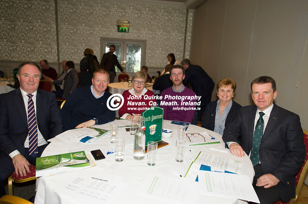 25-01-19. Leinster GAA Annual Convention 2018 at the Knightsbrook Hotel, Trim.<br /> Wexford Delegates in attendance at the Leinster GAA Convention L to R: Derek Kent, Chairman, Micheal Martin,  Vice Chairman. Margaret Doyle, Gearoid Devitt, Secretary. Mary Foley and Dermot Howlin.<br /> Photo: John Quirke / www.quirke.ie<br /> ©John Quirke Photography, Unit 17, Blackcastle Shopping Cte. Navan. Co. Meath. 046-9079044 / 087-2579454.