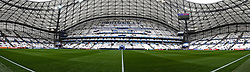 15.06.2016, Stade Velodrome, Marseille, FRA, UEFA Euro, Frankreich, Frankreich vs Albanien, Gruppe A, im Bild ** NOTE TO EDITORS - THIS IMAGE HAS BEEN STITCHED TOGETHER WITH SOFTWARE ** General view of the stadium // ** NOTE TO EDITORS - THIS IMAGE HAS BEEN STITCHED TOGETHER WITH SOFTWARE ** General view of the stadium during Group A match between France and Albania of the UEFA EURO 2016 France at the Stade Velodrome in Marseille, France on 2016/06/15. EXPA Pictures © 2016, PhotoCredit: EXPA/ Focus Images/ Kristian Kane<br /> <br /> *****ATTENTION - for AUT, GER, FRA, ITA, SUI, POL, CRO, SLO only*****