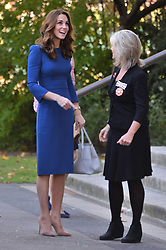 © Licensed to London News Pictures. 31/10/2018. London, UK. Catherine, Duchess of Cambridge makes a visit to the Imperial War Museum to view letters relating to three brothers of her great-grandmother, all whom fought and died in the First World War. Photo credit: Ray Tang/LNP