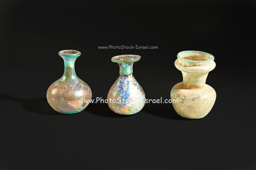 Roman glass bottles and jar 4th century CE (private collection)